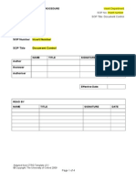 SOPTemplate Document Control V3.1