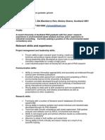 2010 PhD General CV for Non Academic Jobs