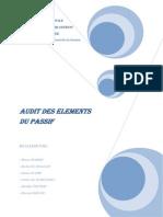 Audit Des Elements Du Passif