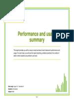 performance and usage summary 12 9 14 1