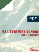 De l'Écriture Sonore de Daniel Deshays - Extrait