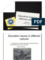 Education Issues in Different Cultures_TP