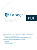 Exchange Enterprise Demo Guide
