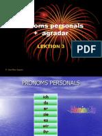 Pronoms Personals i Agradar