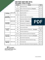 Date Sheet - Soet