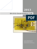 Circuit I Lab Manual -- 2013 Backup