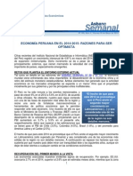TEMA N° 1 - ECONOMÍA PERUANA EN EL 2014-2015 (RAZONES PARA SER OPTIMISTA)