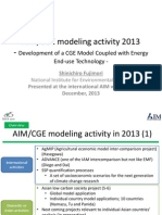 Development of a CGE Model Coupled With Energy