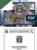Manual de Procedimentos de Fiscalização de Trânsito - Julho 2013
