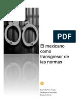 El Mexicano Como Transgresor de Las Normas