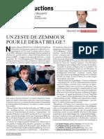 Un zeste de Zemmour pour le débat belge ?