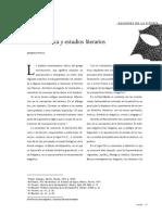 Hermeneutica Y Estudios Literarios