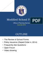 Modified School Forms Official Presentation Nov 2014