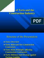 Presentation on Tort-Construction