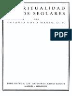 ROYO MARIN, A-Espiritualidad de Los Seglares