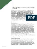 Tax Flash_ New Dutch – German income tax treaty 2012 undersigned