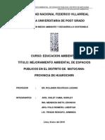 Mejoramiento Ambiental de Espacios Publicos- Distrito De