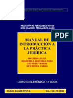 Manual de Introduccion a La Practica Juridica