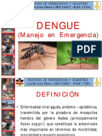 Dengue Manejo en Emergencia
