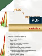 CAPITULO v Empleo y Producto