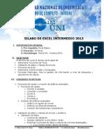 temario de Excel Intermedio 2013