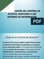 Administracion Del Control Accesos Adecuado Sistemas Informacion