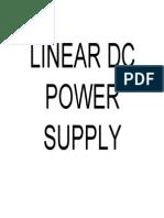 Linear Dc Power Supply Bab1