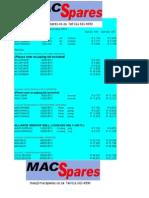 MacSpares - Alliance Air Lastest Prices