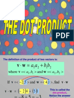 Dot Product Lecture