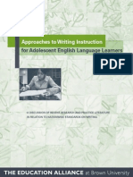 approaches to writing instruction for ells