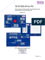 ASTM D1250-04 for PC Manual - ROFA Software