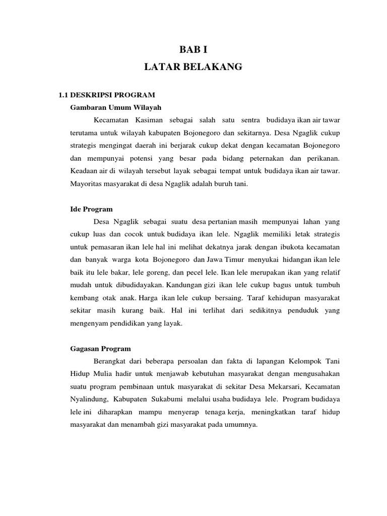Contoh Proposal Ternak Lele