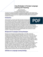 language learning strategies in foreign language learning and teaching