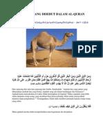 Haiwan Yang Disebut Dalam Al-Quran