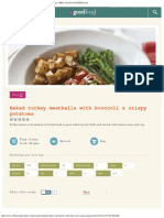 Baked Turkey Meatballs With Broccoli & Crispy Potatoes _ BBC Good Food Middle Ea
