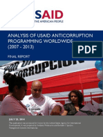Analysis USAID Anticorruption Programming Worldwide Final Report 2007-2013