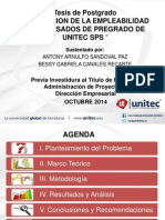 Presentación de Tesis Octubre 2EVALUACION DE LA EMPLEABILIDAD DE EGRESADOS DE PREGRADO DE UNITEC SPS 014