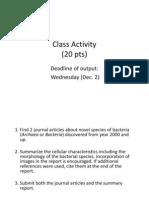 Class Activity 1