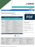 Montos de Contratación 2014 _ Servicio Nacional de Contratación Pública