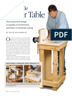A Versatile Router Table