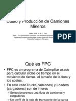Programa de Caterpillar Costos de Produccion de Camiones Mineros en Español