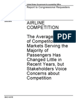 2014 - Airline Competition - The Average Number of Competitors in Markets Serving The