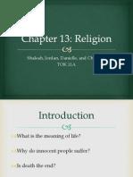 Chapter 13 Religion _ Jordan, Christina, Shaleah, Danielle