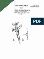 Northrop F-5 Design Patent