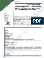 NBR 14598 - Produtos de Petroleo - Determinacao Do Ponto de Fulgor Pelo Aparelho de Vaso Fechado