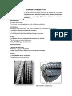 Clases de Cables de Acero