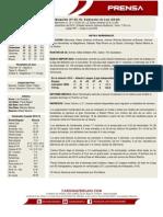 Boletin de Prensa 50 Bravos - Cardenales