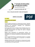 Jornadas Intercambio 2014