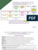 Dec 2014 Live Class Schedule v 3