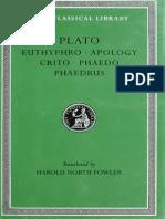 Plato Dialogus Loeb v1 Euthyphro Apology Crito Phaedo Phaedrus